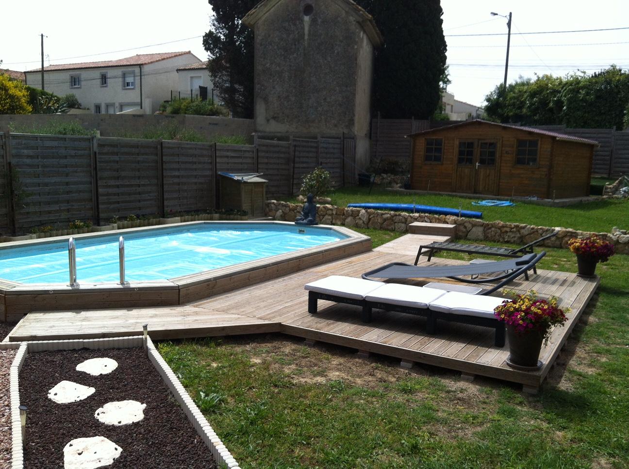 piscine, piscine bois, aménagement extérieur, terrasse bois