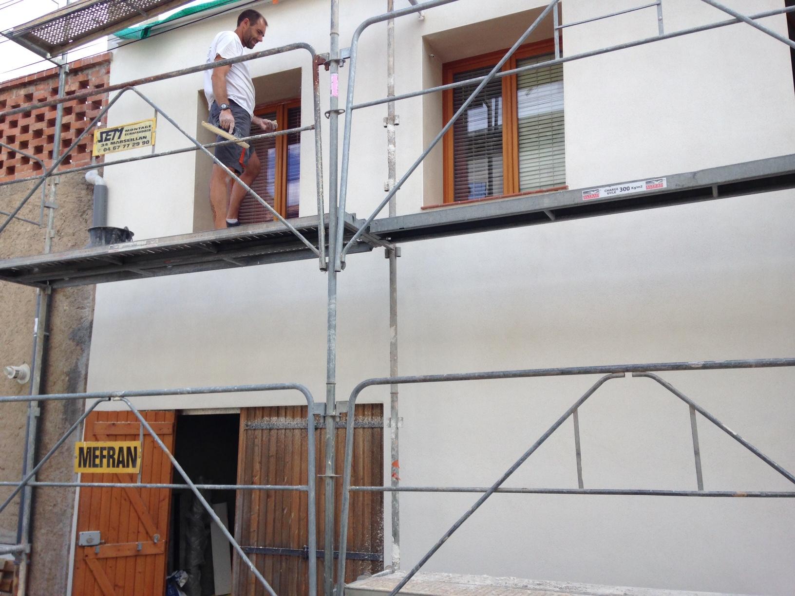 rénovation d'une façade de maison